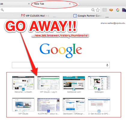 How To Disable New Tab History Icons in Google Chrome - VIP